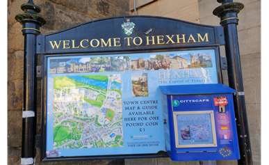 Welcome To Hexham Sign